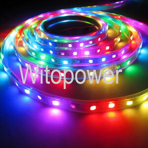 WS2812B-WS2811-RGB-LED-Strip-5M-150-300-Leds-60LED-M-Individual-Addressable-5V