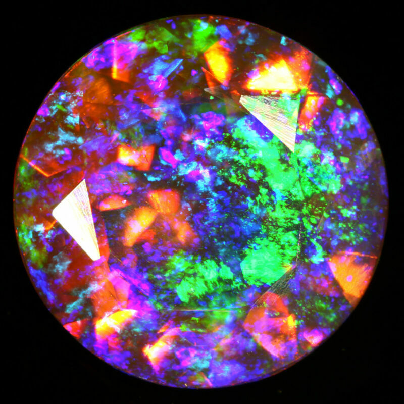 8MM ROUND CUT NR SUPER RAINBOW ELECTRIC ETHIOPIAN FIRE WELO OPAL WHOLESALE PRICE