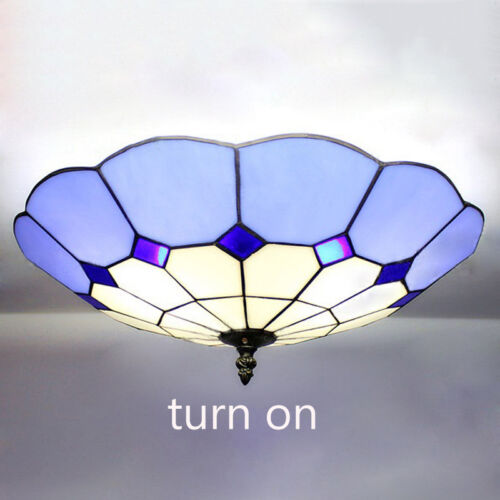 16 stained glass ceiling light fixture tiffany style. Black Bedroom Furniture Sets. Home Design Ideas