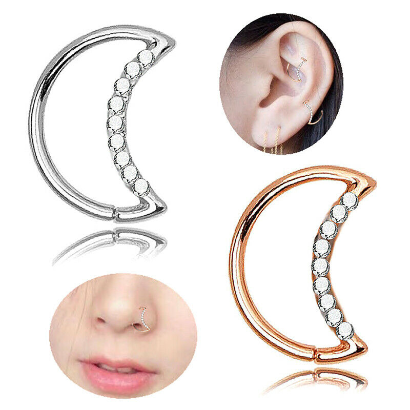Belly Button Ring Navel Piercing JewelryCrystal Rhinestone Double Leaf Cherry SL