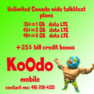 6 Gb LTE UNLIMITED Canada WIDE FOR 49 $ / month