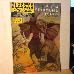 Vintage Classics Illustrated KING SOLOMON'S MINES No. 97