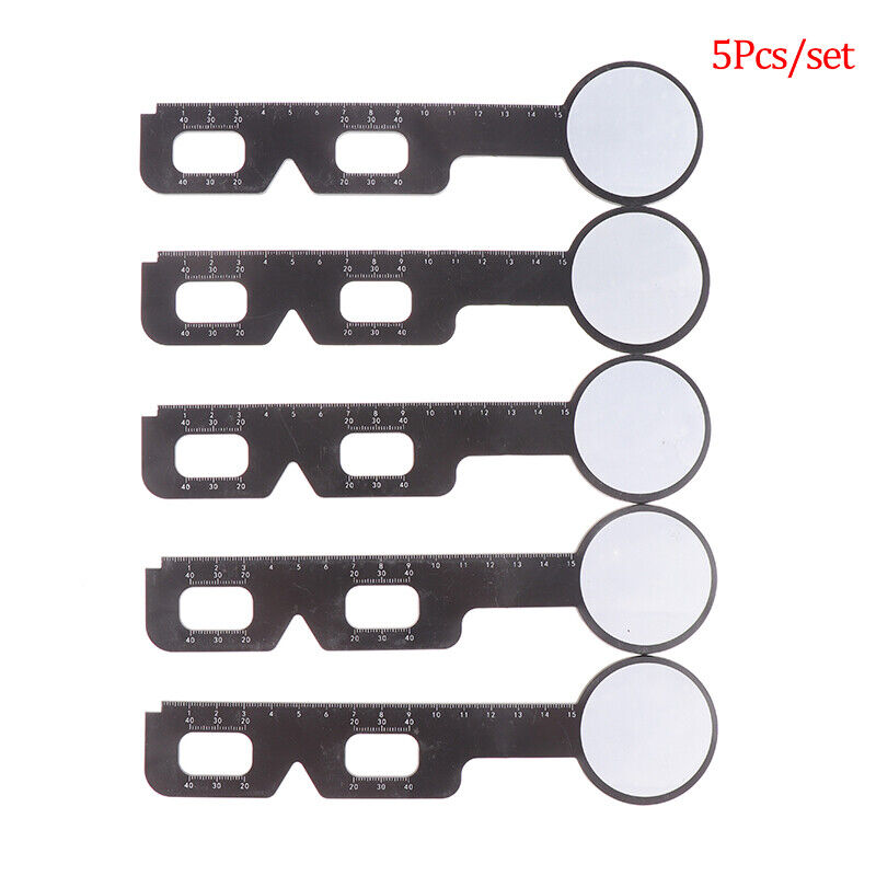 5Pcs Practical Optical PD Ruler Pupil Distance Measuring Eye OphthalmiCADCYUSH