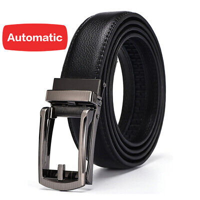 As Seen On TV New Comfort Click Belt Leather Belt Zip Tie for Men Fits 28 to