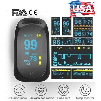 Finger Pulse Oximeter Blood Oxygen Saturation Spo2 Heart Rate Patient Monito Us