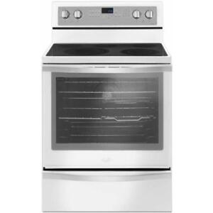 White Whirlpool Electric Range with True Convection YWFE745H0FH (BD-950)