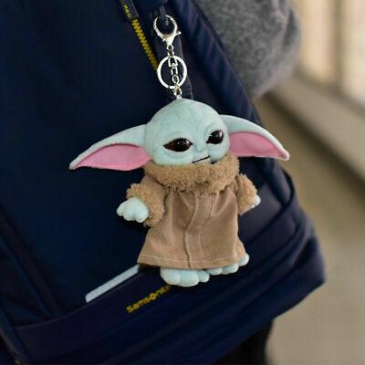 "Baby Yoda Plush Keychain Toy The Child 6"" Doll Pendant The Mandalorian Gift"