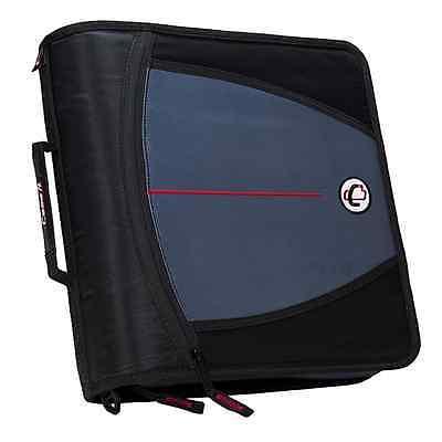 New Case-it Mighty Zip Tab 3-inch Zipper Binder Black D-146-blk
