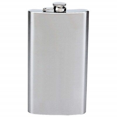 (New Stainless Steel FLASK Screw Cap Hip Pocket Alcohol Liquor Whiskey Party )