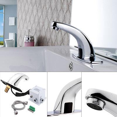 Automatisch Wasserhahn Waschbecken Armatur Badarmatur Infrarotsensor Chrom DM 01 (Automatische Wasserhahn)