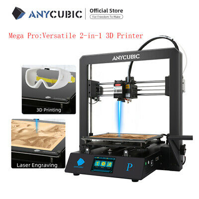 New Anycubic Mega Pro 3d Printer 2 In 1 Machine Of 3d Printing Laser Engraving