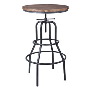 Brand New Titan Industrial Pub Table in Industrial Grey and Pine