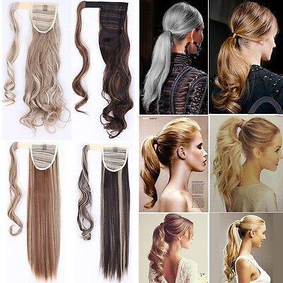 wanz Zopf Party Glatt Gelockt Haarverlängerung Haarteil Haar (Blonde Pferdeschwanz)