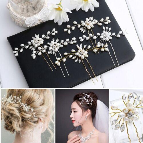 Wedding Hair Vine Crystal Pearl Headband Bridal Accessories