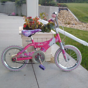 Young girl's Barbie bicycle