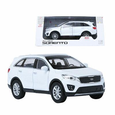 Mini Diecast 1:38 Scale Miniature Display Car Toy Kia Sorento Model White