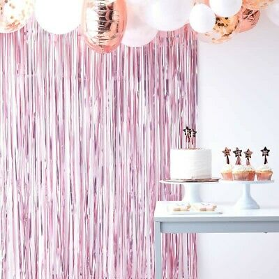 MATTE PINK CURTAIN BACKDROP - TWINKLE TWINKLE, Baby Shower, Birthday Party Deco ()