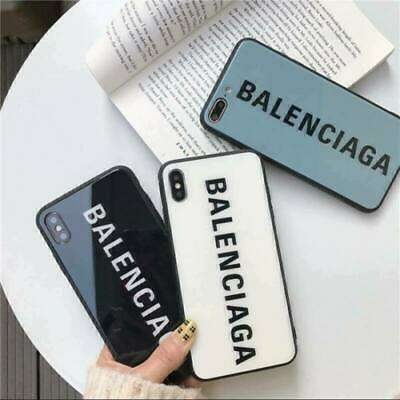 Cover Tempered Glass Balenciaga Case For Apple iPhone 11 X XR XS Max 6s 7 8+