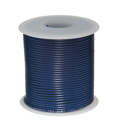 22 Awg Gauge Solid Hook Up Wire Blue 100 Ft 0.0253 Ul1007 300 Volts