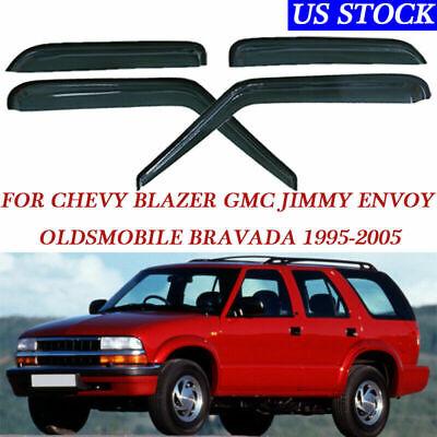 4Pcs Smoke Window Visor Vent Rain Guard Shield For GMC Jimmy/Chevy Blazer 95-05