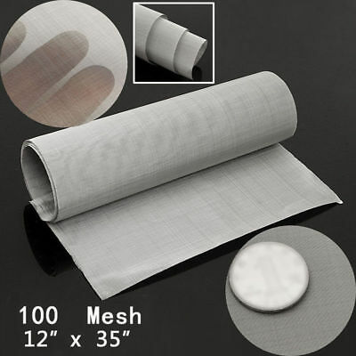 """Stainless Steel 12*35"""" inch 100 Micron Mesh Woven Wire Cloth Screen Filter Sheet"""