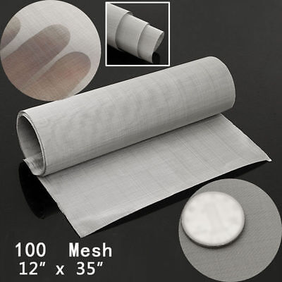 Stainless Steel 1235 Inch 100 Mesh Woven Wire Cloth Screen Filter Sheet