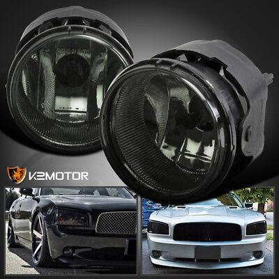 Smoke 2006-2009 Dodge Charger Caravan Caliber Bumper Fog Lights w/Switch+Bulbs