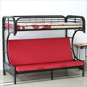 Bunkbed with futon and mattress