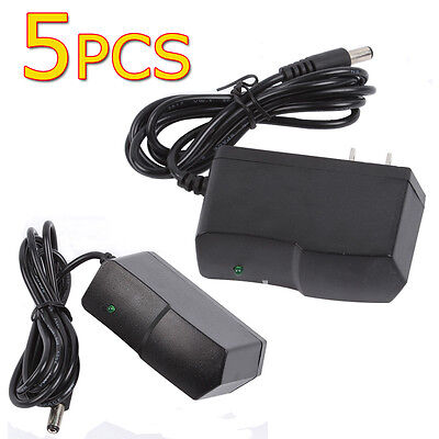 Lot 5pcs 100-240V DC 12V 1A US Wall Charger Power Supply Adapter for CCTV LED
