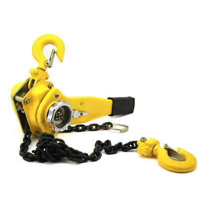 34 Ton Lever Block Chain Hoist Ratchet Type Come Along Puller 20ft Chain Lifter