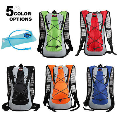 2L Bladder Cycling Backpack Water Bag Hiking Pouch Climbing Hydration Pack Sport