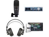 Audio Recording Bundle Interface Headphones Mic Presonus iTwo Studio Home