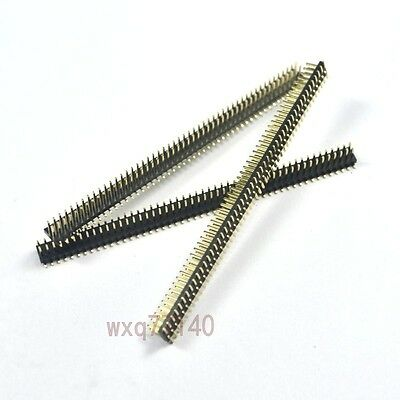 5pcs Rohs 1.27mm 2x50 Pin Header Double Row Smtsmd Male 100p For Dip Pcb Board
