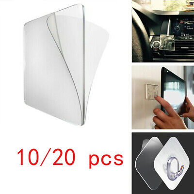 10/20pcs Double Sided Magic Sticker Super Sticky Grip Glue Pad Removable Phone