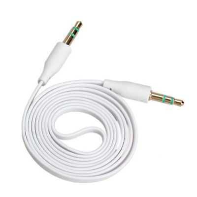 Cable Mini Jack de 3,5mm Adaptador Estereo Doble Macho Plano Audio 1Metro...