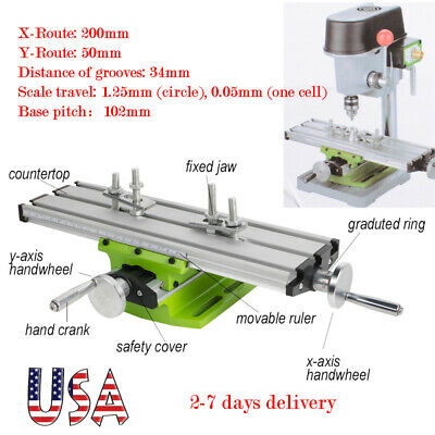 Multi-function Milling Machine Cross Slide Table Vise Lathe Bench Drill Xy Axis