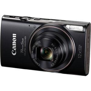 Canon PowerShot ELPH 360 HS (Noir),  carte 64 Go, 2 piles & étui