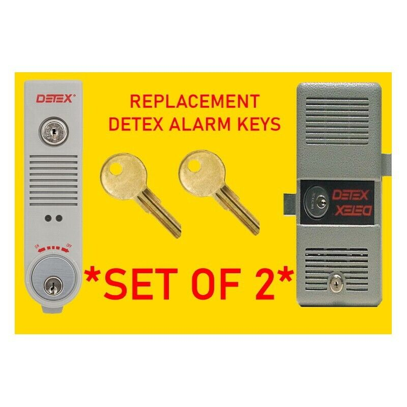 DT001 / DT01 Detex Alarm Panel Replacement Keys (Set of 2)