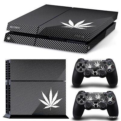 PS4 Playstation 4 Console Skin Decal Sticker Marijuana + 2 Controller Skins...