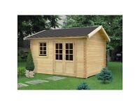 Garden building, log cabin(13 X 10 FT, 44 MM)