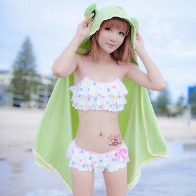 Japanese Anime Character Misaka Mikoto Cosplay Swimwear Bikini Costume Swimsuit