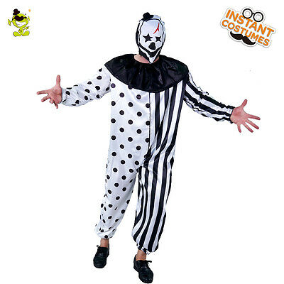 Ruthless Killer Clown Complete Costume For Adult Halloween party Mens costumes - Killer Clown Costume For Adults