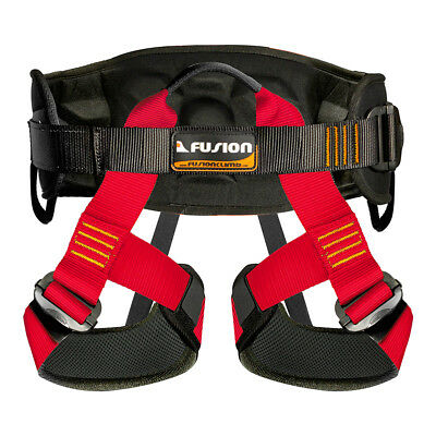 Fusion Climb Centaur Heavy Duty Tactical Padded Half Body Harness 23kN S-M Red