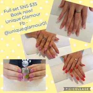 Sns / nail technician $35