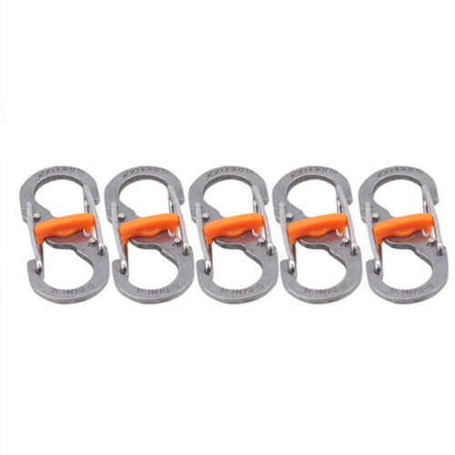 Outdoor Camping Hiking Theft 8 Word Buckle Locking Carabiner Anti-lost Keychain