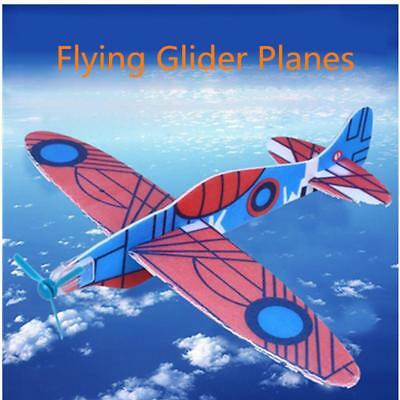 12 Flying Glider Planes Aeroplane Party Bag Fillers Childrens Kids Toys New AU - Flying Gliders