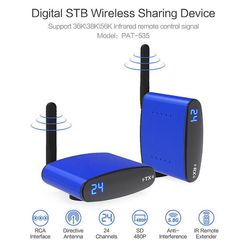 5.8Ghz RCA Wireless AV Sender TV STB Video Audio Signal Rece