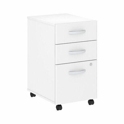 Bush Business Studio C 3 Drawer Mobile File Cabinet In White