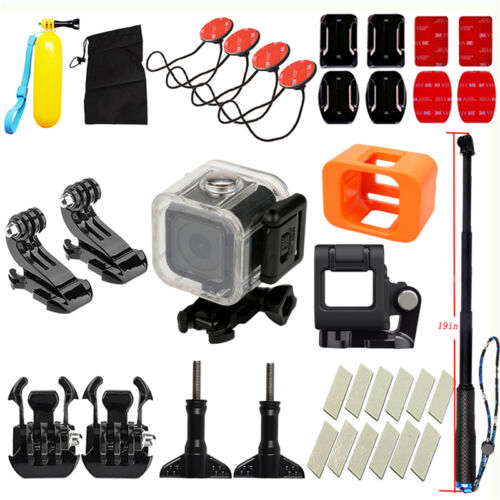 For Gopro Hero 4 5 Session Camera 19-in-1 Black Sport Accessory Kit Bundle Set