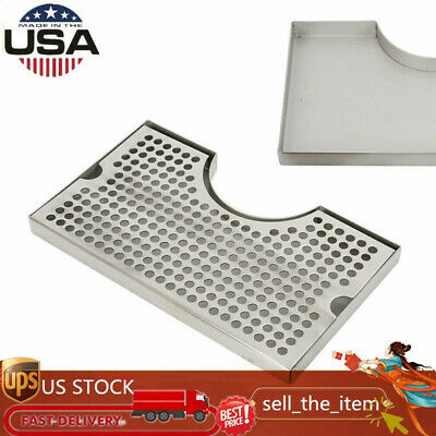 12x7 Tap Draft Beer Kegerator Tower Drip Tray Stainless Steel Surface Mount